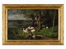 Alexandre DEFAUX (1826-1900) - Duck Pond