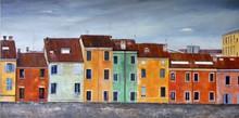 Gabriella MAINO (1942) - Case oltre il muro