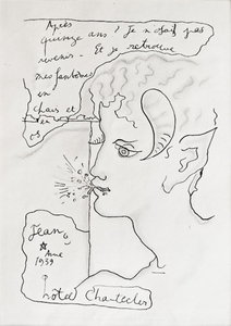 Jean COCTEAU (1889-1963) - Faun a la brindille