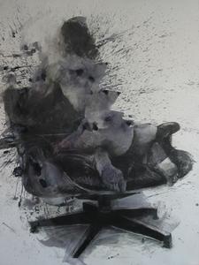 Philippe PASQUA (1965) - Constance sur fauteuil Eames