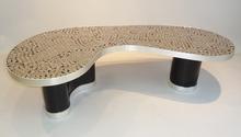 """- table basse modèle """"SILVER"""" signée Manne 1/1"""