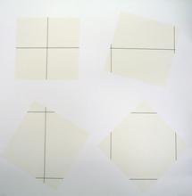 François MORELLET (1926) - Untitled Grid 0°, 90° on four squares