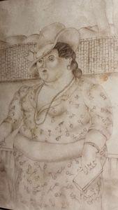 Fernando BOTERO (1932) - Mujer en la Calle