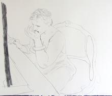 David HOCKNEY (1937) - Celia - Adjusting her Eyelash