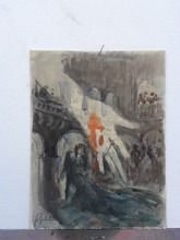 Georges Guido FILIBERTI (1881-1970) - Decor de theatre pour une piece de Macbeth