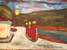 Christian DURIAUD (1944) - Road 66 (Hommage à Hopper)