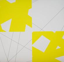 François MORELLET (1926) - Pi & Plis (Pi & Fold), (Yellow)
