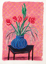 David HOCKNEY (1937) - Amaryllis in Vase