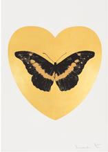 Damien HIRST (1965) - I Love You - gold leaf, black, cool gold
