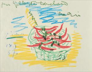 Pablo PICASSO (1881-1973) - Piments rouges dans un panier