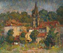 Joseph Louis François LÉPINE (1867-1943) - Le village girondin de Baurech