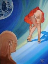Eric TEPAZ (XX-XXI) - Coquelicot au clair de lune
