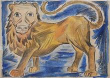 Nathalie GONTCHAROVA (1881-1962) - Le lion Anglais