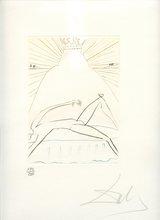 Salvador DALI (1904-1989) - GRAVURE 1970 SIGNÉ AU CRAYON NUM/250 ML393 HANDSIGNED ETCHIN