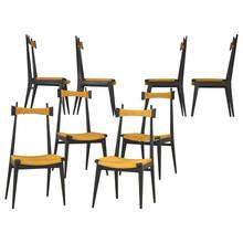 Ico PARISI (1916-1996) - Emsemble de 8 chaise par Ico Parisi