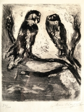 Marc CHAGALL (1887-1985) - The Eagle and the Owl, Les Fables de la Fontaine