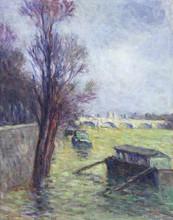 Maximilien LUCE (1858-1941) - Paris, Les inondations près du Pont-Neuf