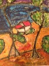 Christian DURIAUD (1944) - Méditerranée ( Hommage à Matisse )
