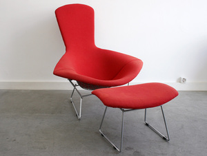 Harry BERTOIA (1915-1978) - Bird chair + Ottoman
