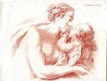 Jean-Baptiste I HUET (1745-1811) - Venus und Amor