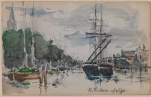 Johan-Barthold JONGKIND (1819-1891) - Shipping in Rotterdam