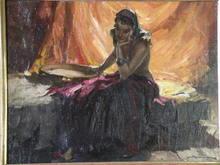 Durando Togo RICHARD (1910-?) - Femme au tambourin