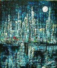 Francesco OTTOBRE (1956) - notte di luna pena