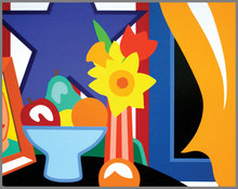 Tom WESSELMANN (1931-2004) - Still life with blowing curtain (yellow)