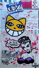 M.CHAT & QUIK (XX-XXI) - Sans titre - sur plan de métro de Paris