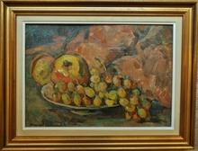 Marcel ARNAUD (1877-1956) - Nature morte au raisin et pommes