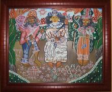 André PIERRE (1914-2005) - Naive haitian art naif haitien - Le voyage des 3 esprits