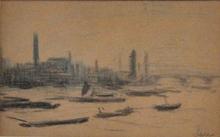 Maximilien LUCE (1858-1941) - Vue de la Tamise avec le Parlement (Londres)