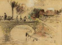 Camille PISSARRO (1830-1903) - Le Pont Corneille à Rouen