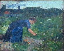 Lesser URY (1861-1931) - Woman Working in the Garden