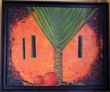 Gisela CLEV (1952) - palmier au Mexique