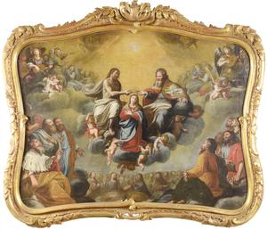 Gian Giacomo BARBELLI (1604-1656) - CORONATION OF VIRGIN MARY