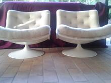 Geoffrey & Pierre HARCOURT & PAULIN (XX) - paire de fauteuils f976 geoffrey harcourt en laine d origine