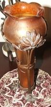 Johann LOETZ (XIX-XX) - Par de floreros de cristal con bronce