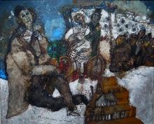 Théo TOBIASSE (1927-2012) - L'homme assis retourne vers son passe