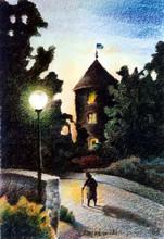 Gregor ZIOLKOWSKI (1950) - EVENING AT WASSERBURG