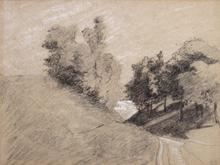 Camille PISSARRO (1830-1903) - Étude, près de Nanterre
