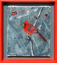 Gisela CLEV (1952) - oiseau en hiver