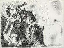 """Pablo PICASSO (1881-1973) - """"Les Faunes et la Centauresse"""" (Faunes and the She-Centuar)"""
