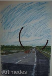 Bernar VENET (1941) - Arc (Autobahnprojekt)