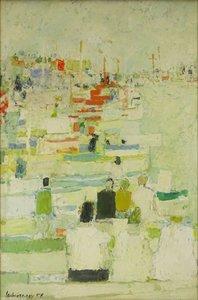 Henri LACHIEZE-REY (1927-1974) - Régates à Saint-Tropez, 1958