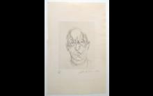 Alberto GIACOMETTI (1901-1966) - Alberto : Portrait du Poete Orbandale