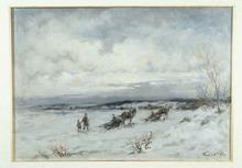 Ivan KARPOFF (1898-1970) - Paesaggio invernale con personaggi