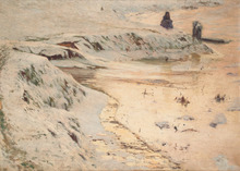 Emile CLAUS (1849-1924) - Paysage enneigé.