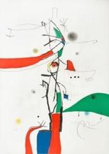 Joan MIRO (1893-1983) - Demi-Mondaine à sa fenêtre