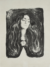 Edvard MUNCH (1863-1944) - The Brooch. Eva Mudocci